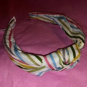 NWT J. Crew Multicolor Stripe Turban Knot Headband